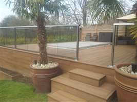 Royal Chrome balustrade with exotic plants