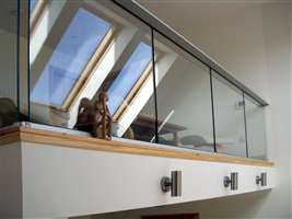 Interior Silver Glass Balustrade