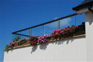 Glass Balustrade Royal Chrome Bal 1 Cheshire