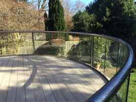 Composite decking and royal chrome balustrade