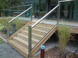 Royal Chrome balustrading for the balcony and stairs