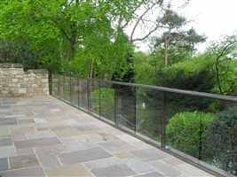 Large Royal Chrome Glass Balustrade in Northumberland