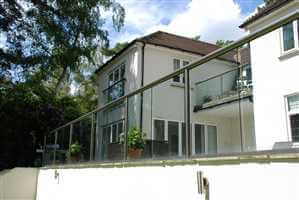 Glass Balustrades and Juliet Balcony on Surrey home