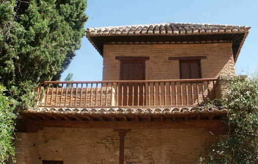 Simple balcony at granada's alhambra