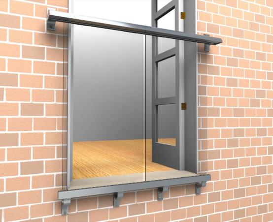 Frameless Juliet Balcony Glass Juliet Balconies