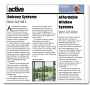 Preview article for Interbuild 2007
