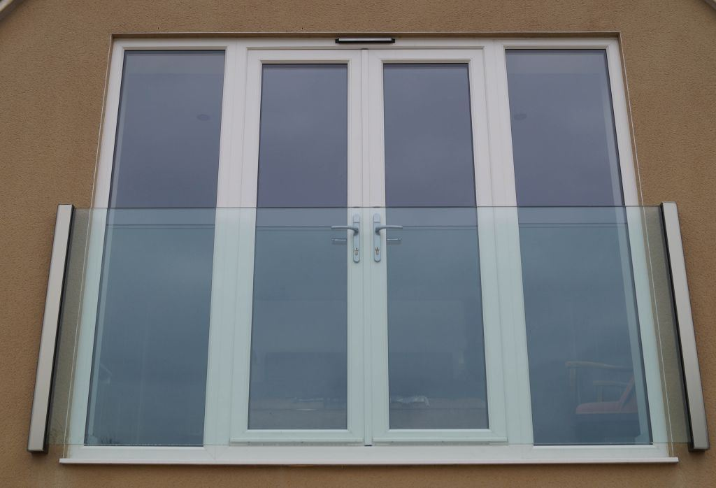Frameless Juliet Balcony on French Doors