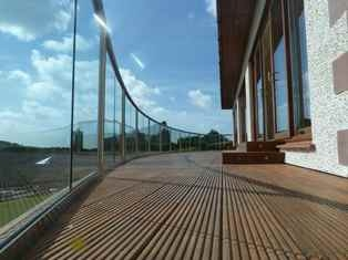 Curved Glass Balcony by Balcony Systems Curved Glass Suppliers