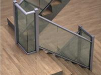 Curved anodised aluminium railing