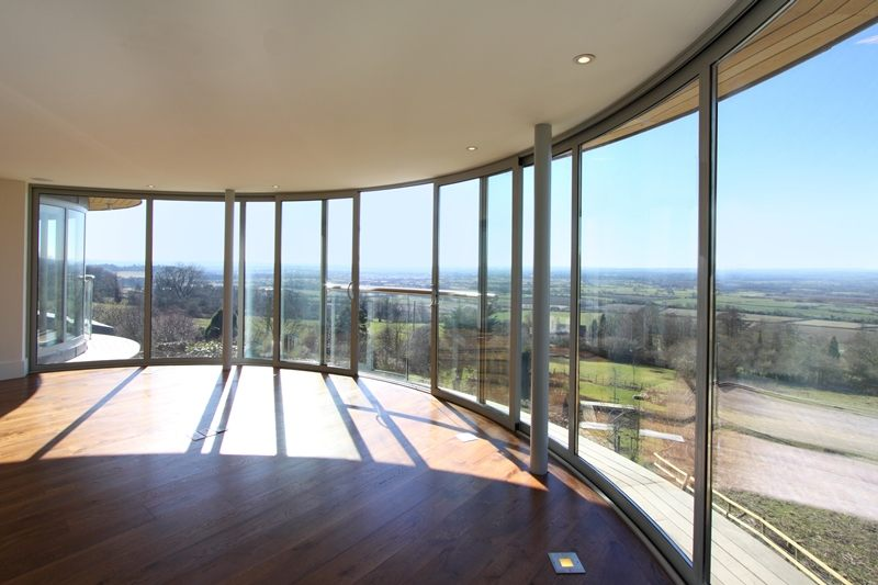 Stunning view from Curved Glass Patio Doors