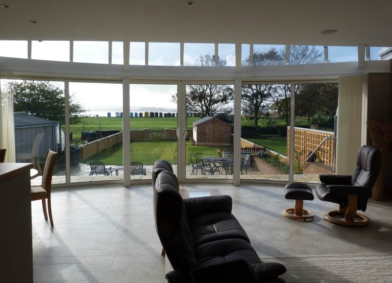 Curved Glass Patio Doors