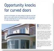 Opportunity knocks for curved doors