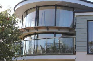 Curved Balcony and Doors