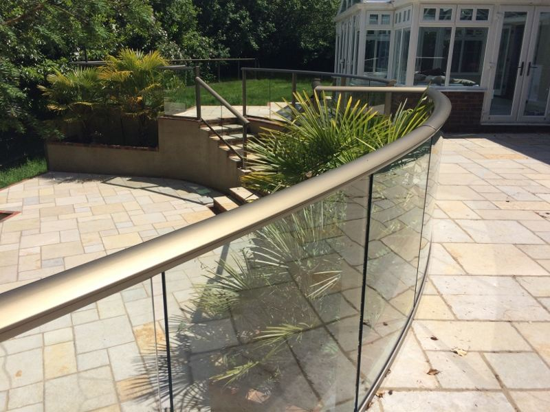 Curved Glass Balustrade Sussex