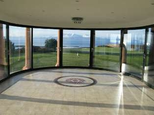 Custom Curved Sliding Doors with beautiful views