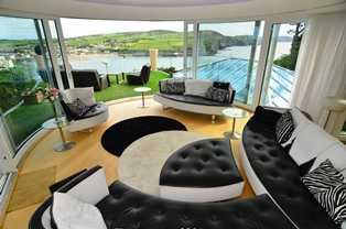 Curved Glass Sliding Doors with a view