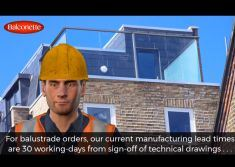 What is your current manufacturing lead time for balustrade orders video screenshot