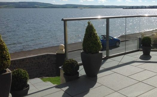 top view glass balustrade