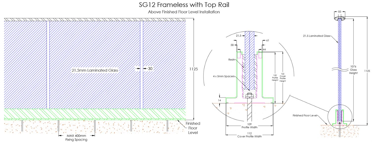 Glass Balustrade Technical Specifications And Drawings