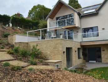 Silver Anodised Glass Balustrades in Gloustershire