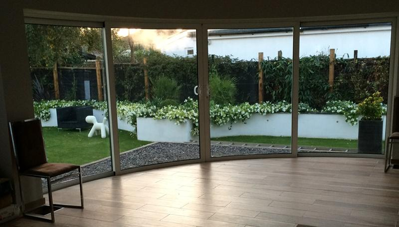 Curved Glass Doors add the WOW factor