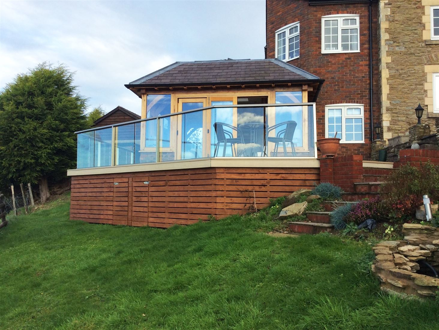 Aerofoil Railing Glass Balustrade
