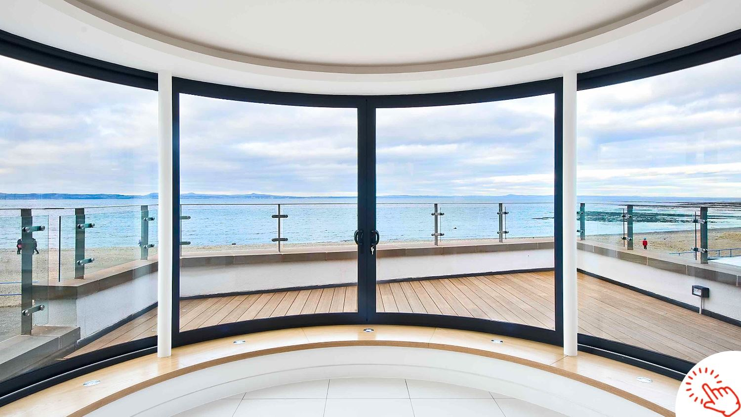 Curved Glass Doors