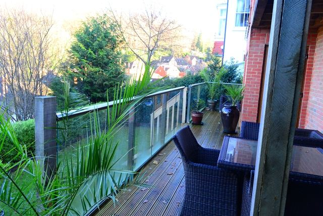 balcony in surrey garden view