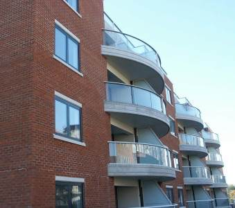 Curved glass Balconies in London