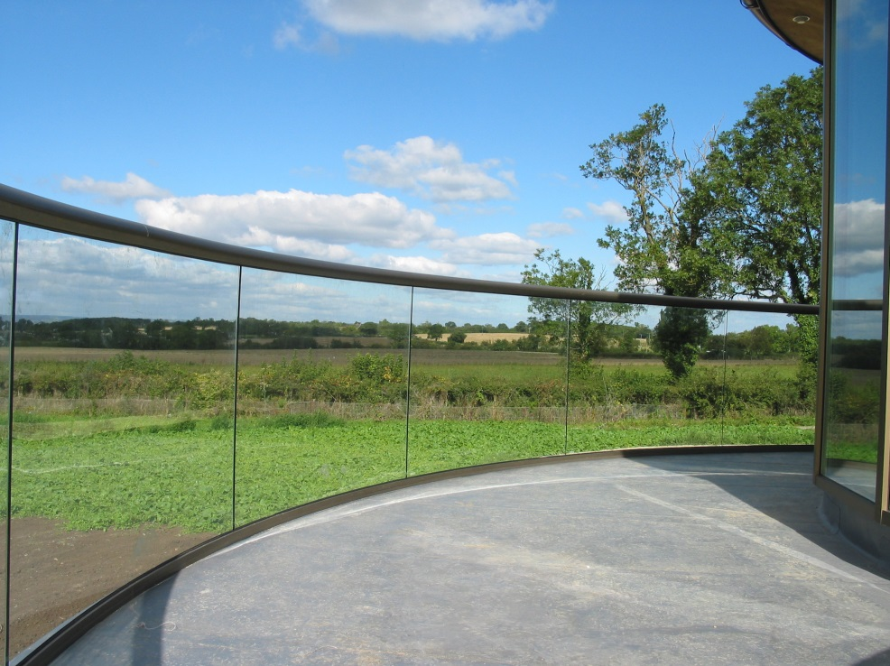 Balcony Systems' curved balustrade