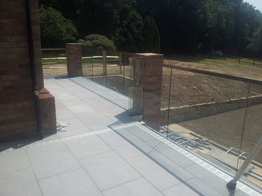 complete grass balustrade after resin