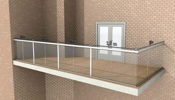 Glass balustrade maximum post spacing for What is a balcony