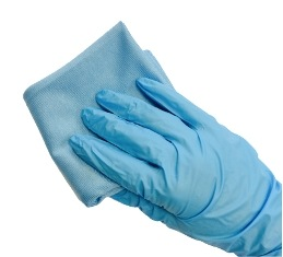 Wear the Nitrile glove for protection when cleaning the glass and applying the self-cleaning coating