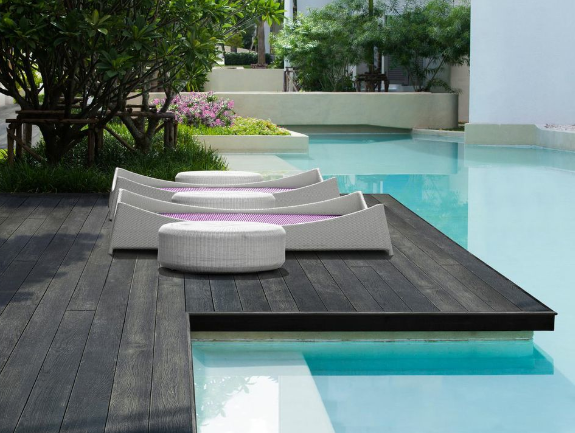 Carbonised Composite Decking, the burnt wood effect, stained decking
