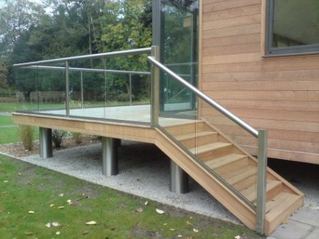 Stairs glass balustrades