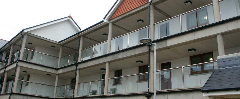 Glass Balconies apartments in Isle of Man