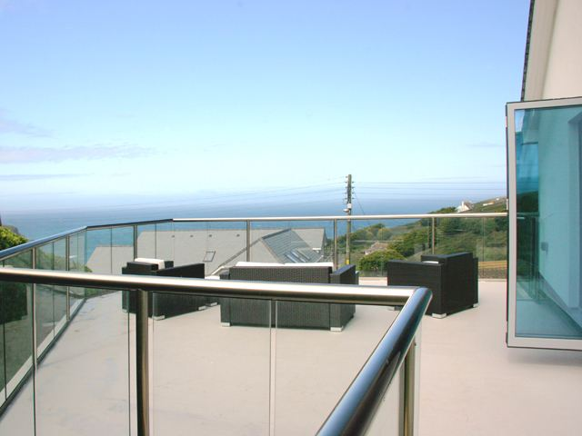Royal Chrome glass Balcony by the sea