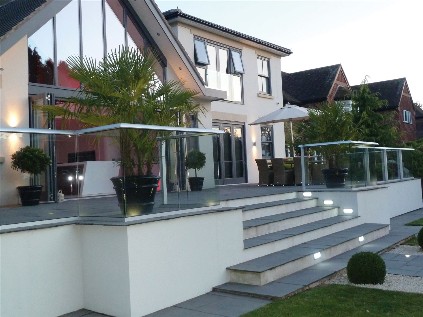 Decking Glass Balustrade