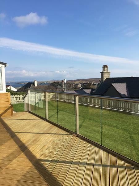 Glass Balustrade sea view Shetland Islands