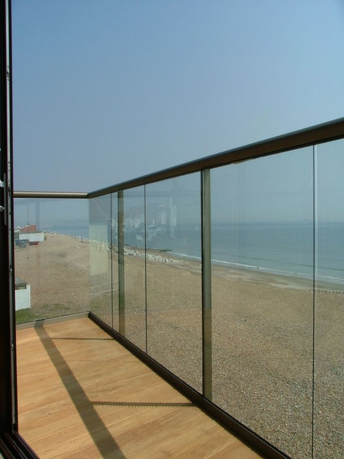 Straight Coastal Glass Balustrade