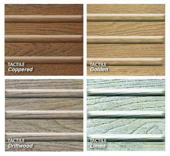 colours of tactile decking
