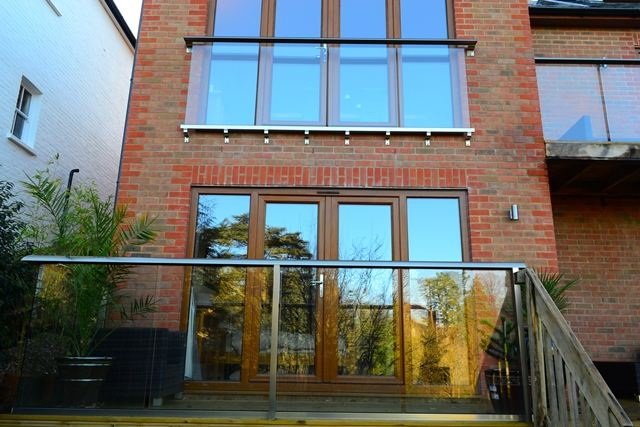 glass balcony in surrey