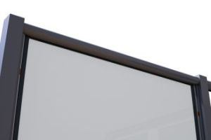 Replace the full length glazing bead on the handrail