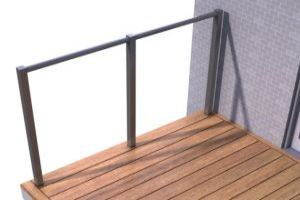 Drop the handrail onto the brackets