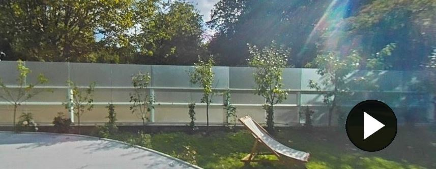 Glass Fence in East Sussex