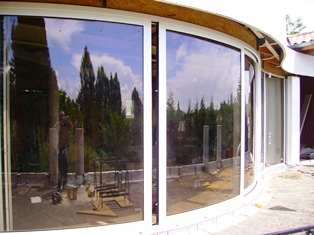 Curved Glass Doors installation