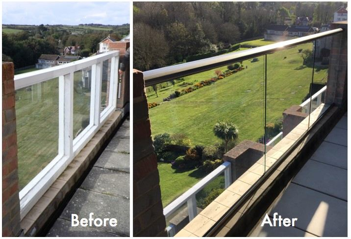 Glass Balustrades refurbished