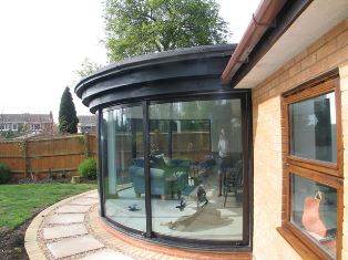 Curved Sliding Doors on stunning house