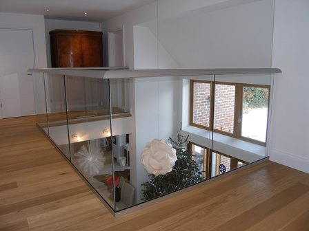 Internal Glass Balustrade featured on BBC