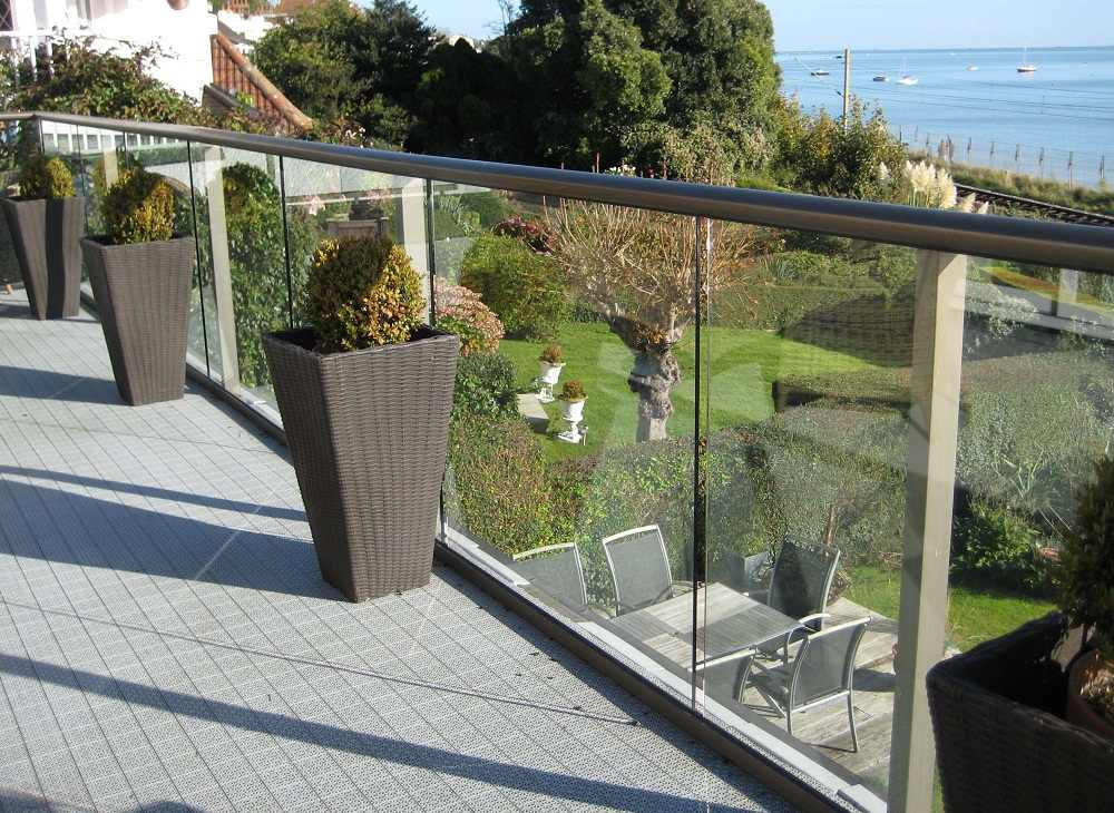 Long Glass Balustrade in Essex